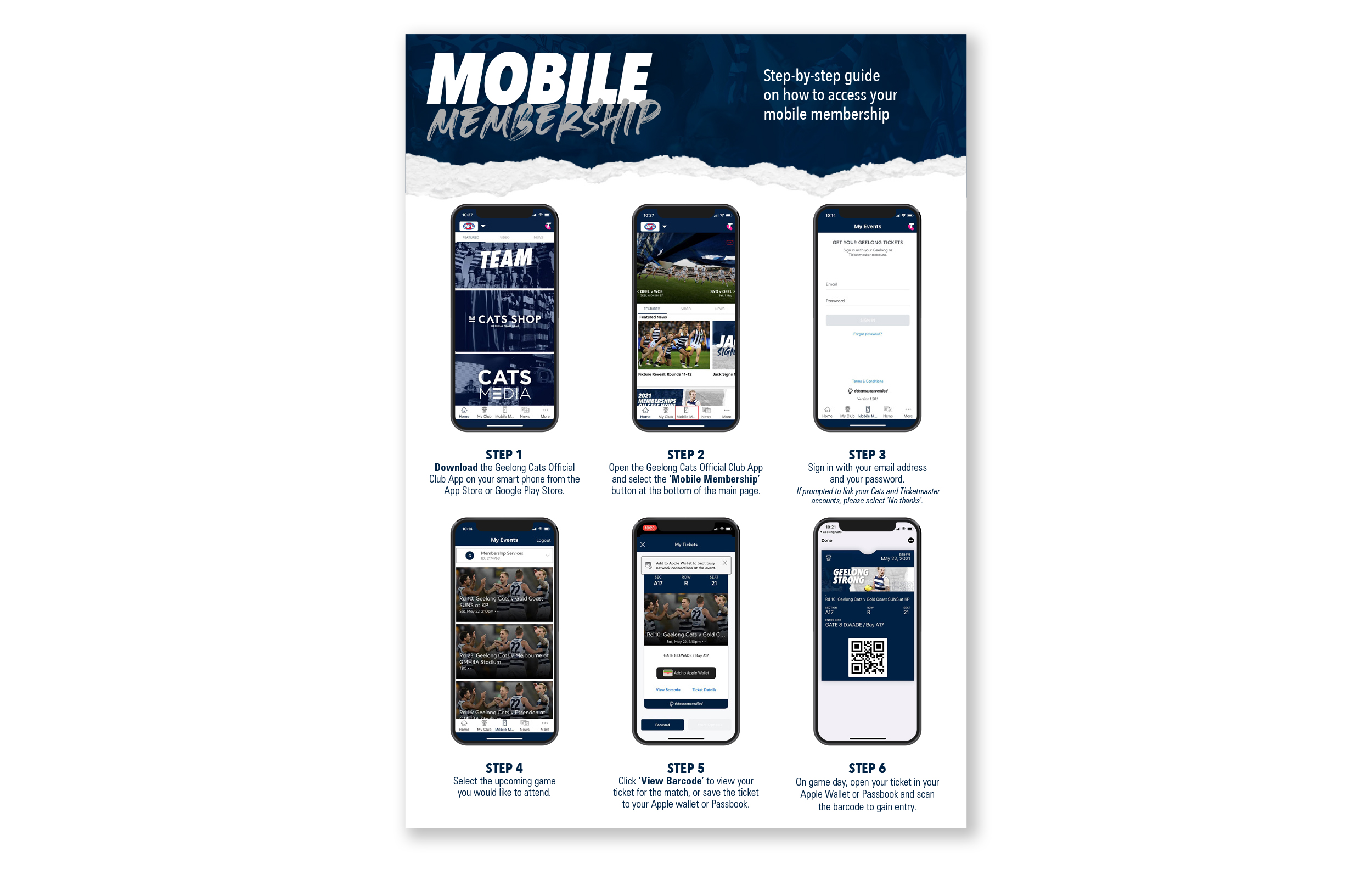 How to use mobile membership